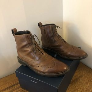 Cole Haan Nike Air Military Dress Boots Brown 9.5